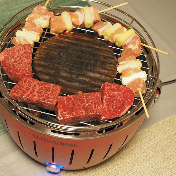 厚みのあるステーキと焼き鳥をロータスグリルSで焼く!